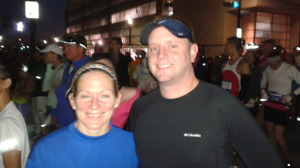 Trisha and Chris before Houston Marathon